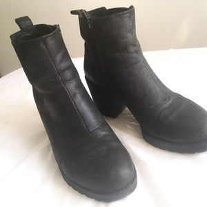 Vagabond Grace heeled black leather boots size 7